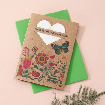 Plantable Seed Card Butterfly Meadow- SC005