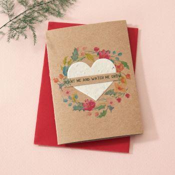 Plantable Seed Card Festive Wreath SC012