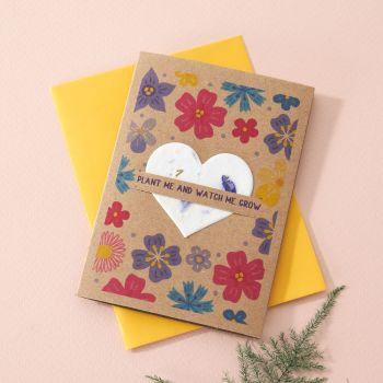 Plantable Seed Card Flowers Burst- SC013