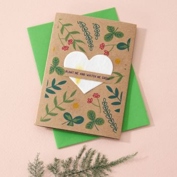 Plantable Seed Card Garden Leaves- SC007
