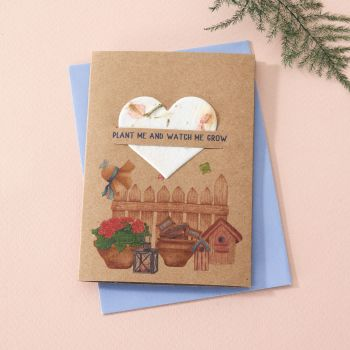 Plantable Seed Card In The Garden- SC010