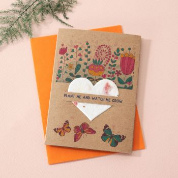 Plantable Seed Card Butterfly Garden- SC003
