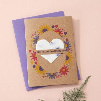 Plantable Seed Card Summer Sunflower Wreath- SC014