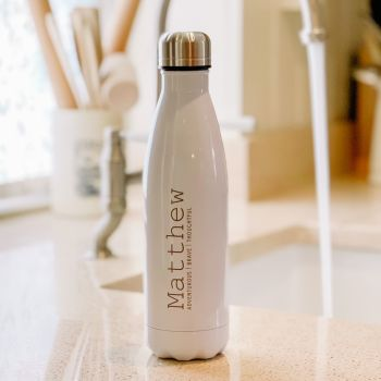 Personalised Luxury Water Bottle For Him