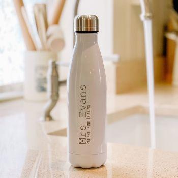 Personalised Luxury Water Bottle For Teacher