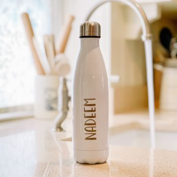 Personalised Luxury Water Bottle With Bold Name