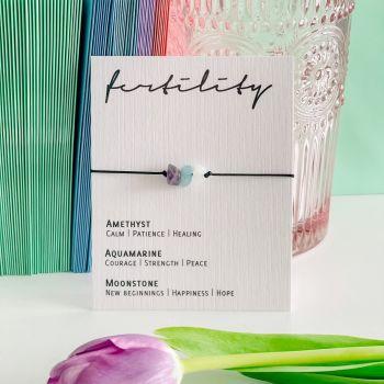 Fertility  - Adjustable Crystal Bracelet