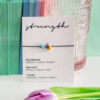 Strength  - Adjustable Crystal Bracelet