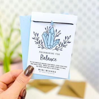 Aquamarine - Balance Crystal Mini Wish