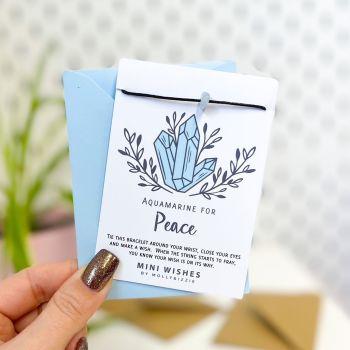Aquamarine - Peace Crystal Mini Wish