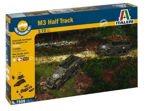 Italeri - 1/72 Fast Assembly M3 Half Track (2 x kits)