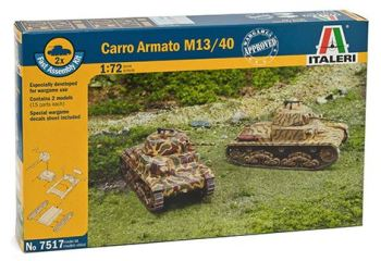 ITA-07517 - 1/72 Fast Assembly Carro Armato M13/40 (2 x kits)