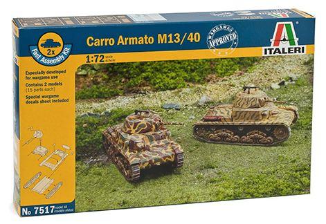Italeri - 1/72 Fast Assembly Carro Armato M13/40 (2 x kits)
