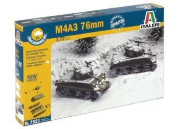 ITA-07521 - Italeri 1/72 M4A3 76mm (2 Fast Assembly Plastic Models)