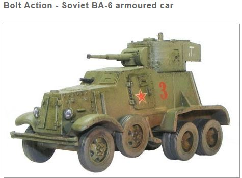 Bolt Action - Russian BA6 Armoured Car