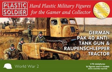 Reinforcements: PSC 1/72nd German Pak 40 ATG + Raupenschlepper Tractor