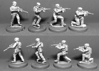 WTM-SOF03: 28mm Australian Special Forces with Support Weapons (Pack 1)