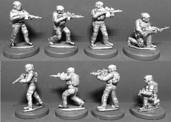 WTM-SOF04: 28mm Australian Special Forces with Support Weapons (Pack 2)