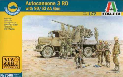 ITA-07508 - Italeri 1/72 Autocannon 3RO With 90/53 AA Gun Plastic Model Kit