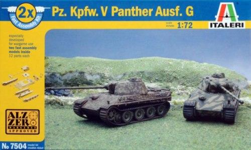 ITA-07504 - Italeri 1/72 Pz.Kpfw.V Panther Ausf.G (2 Fast Assembly Plastic