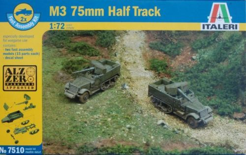 ITA-07510 - Italeri 1/72 M3 75mm Gun Motor Carriage (2 Fast Assembly Plasti