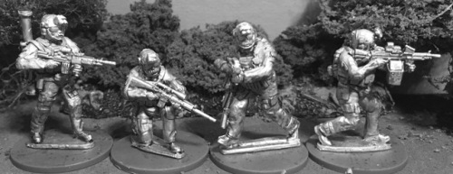 WTM-SOF06: 28mm US MARSOC  with Support Weapons