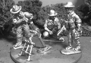 AMF36: 28mm Late WWII Australian Medium Mortar + Crew