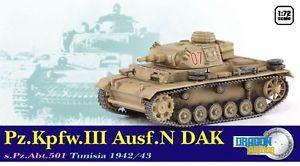 DA60601: DRAGON ARMOUR 1/72 Pz.Kpfw.III Ausf.N DAK s.Pz.Abt.501 Tunisia 1942/43