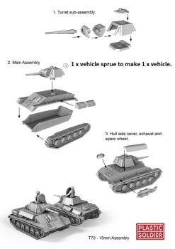 Reinforcements: PSC 1/72 (20mm) Russian T70 Tank x 1