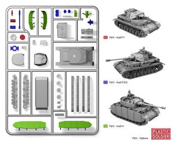 Reinforcements: PSC 1/72 (20mm) Panzer IV Tank x 1