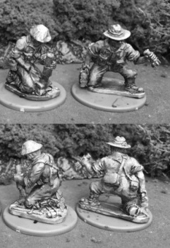 AMF38b: 28mm Australian Light Mortar Team