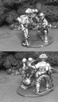 AIF38: 28mm Australian Soldiers with Sticky Bombs