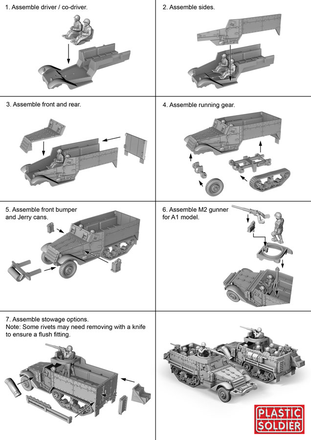 Reinforements: PSC 1/72 (20mm) US M3 Halftrack x 1