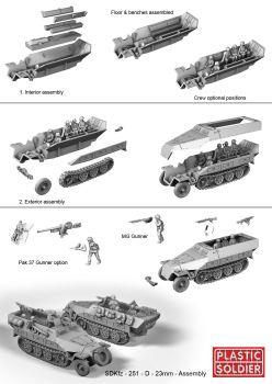 Reinforcements: PSC 1/72 (20mm) German SdKz 251/D halftrack x 1