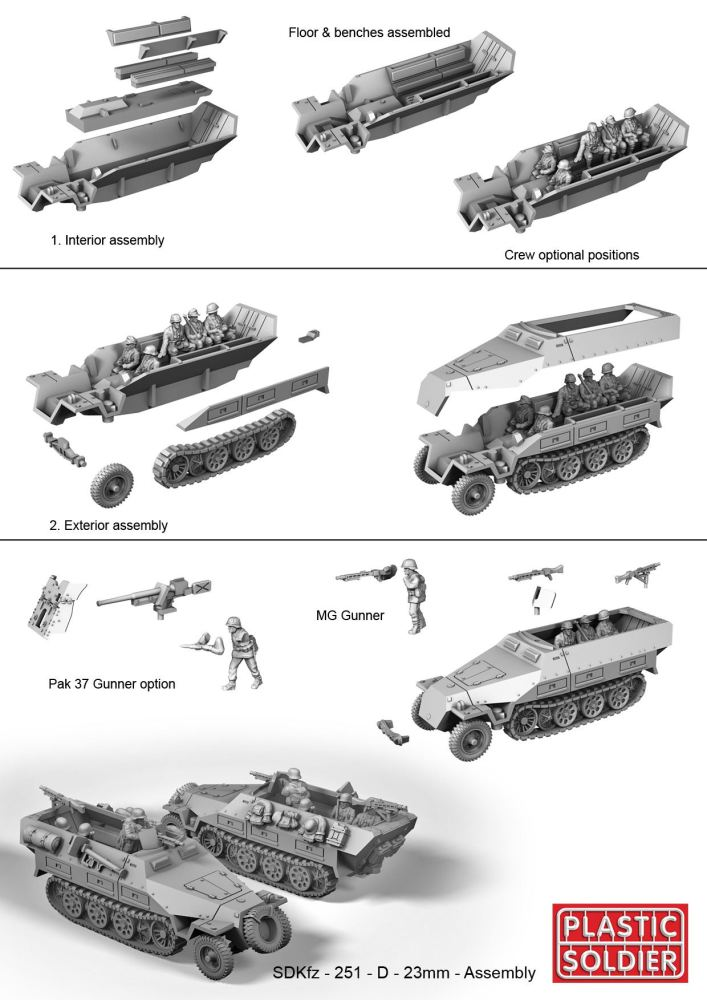Reinforcements: PSC 1/72 (20mm) German SdKz 251/D halftrack x 1