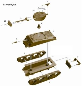 "Reinforcements: Italeri 1/72 M4A3E2 ""Jumbo"" x 1"