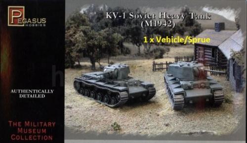 Reinforcements: Pegasus 1/72 KV-1 Soviet Heavy Tank x 1