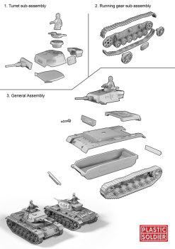 Reinforcements: PSC 1/72 (20mm) Panzer III G, H x 1