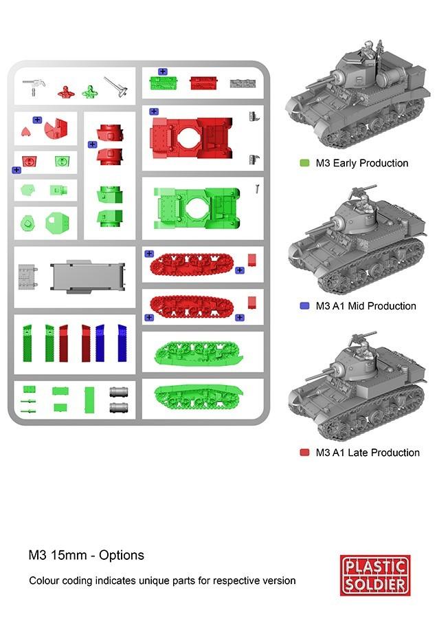 Reinforcements: PSC 1/72 (20mm) British/Allied M3 Stuart I Honey Tank x 1