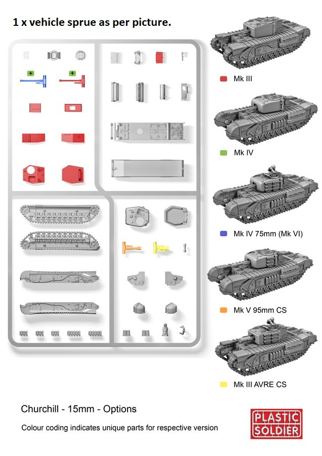 Reinforcements: PSC 1/72 (20mm) British Churchill tank x 1