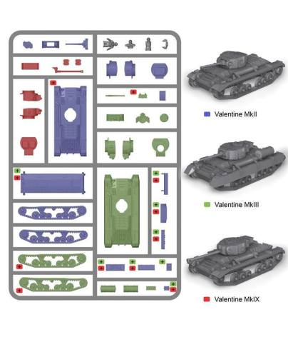 Reinforcements: PSC 1/72 (20mm) British Valentine Tank x 1