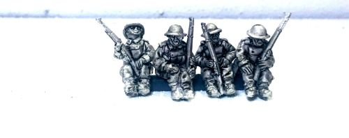 BEF06: 20mm WWII BEF Seated Figures