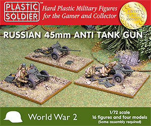 PSC - 1/72nd Russian 45mm anti tank gun
