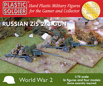 PSC - 1/72nd Russian Zis2/3 anti tank and field guns (x4)