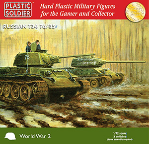 PSC - 1/72nd Easy Assembly T34 76/85 Tanks (x3)
