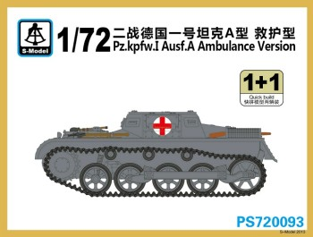 S Model - 1/72 Panzer I Ausf.A Ambulance (x2)