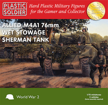 PSC - 1/72nd Sherman M4A1 76mm Wet Tanks (x3)