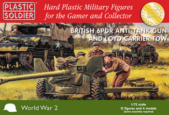PSC - 1/72nd British 6 pdr anti tank gun and Loyd carrier tow