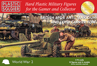 1/72nd British 6 pdr anti tank gun and Loyd carrier tow