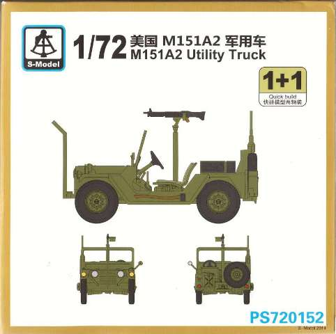 1/72 S-Model Ford Mutt M151 A2 Utility Truck